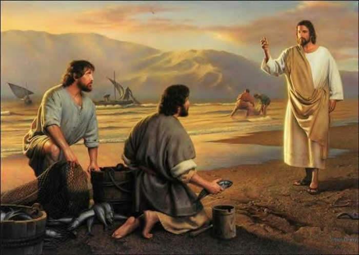 """Jésus dit aux pêcheurs:""""suivez-moi"""""""
